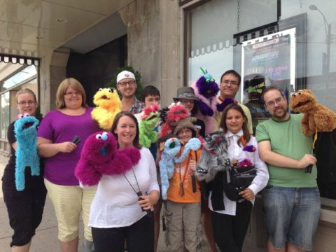 Puppet workshop participants.